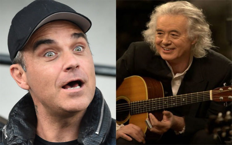 Robbie Williams Jimmy Page