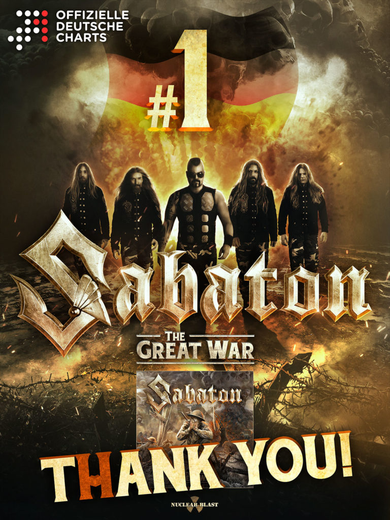 Sabaton The Great War Charts