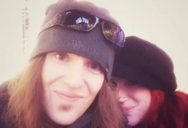 Alexi Laiho With His Wife