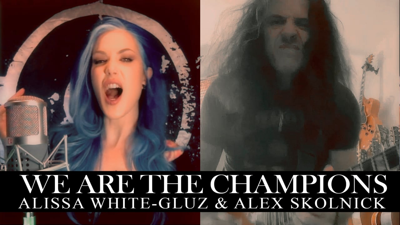Alissa White Gluz Alex Skolnick We Are The Champions