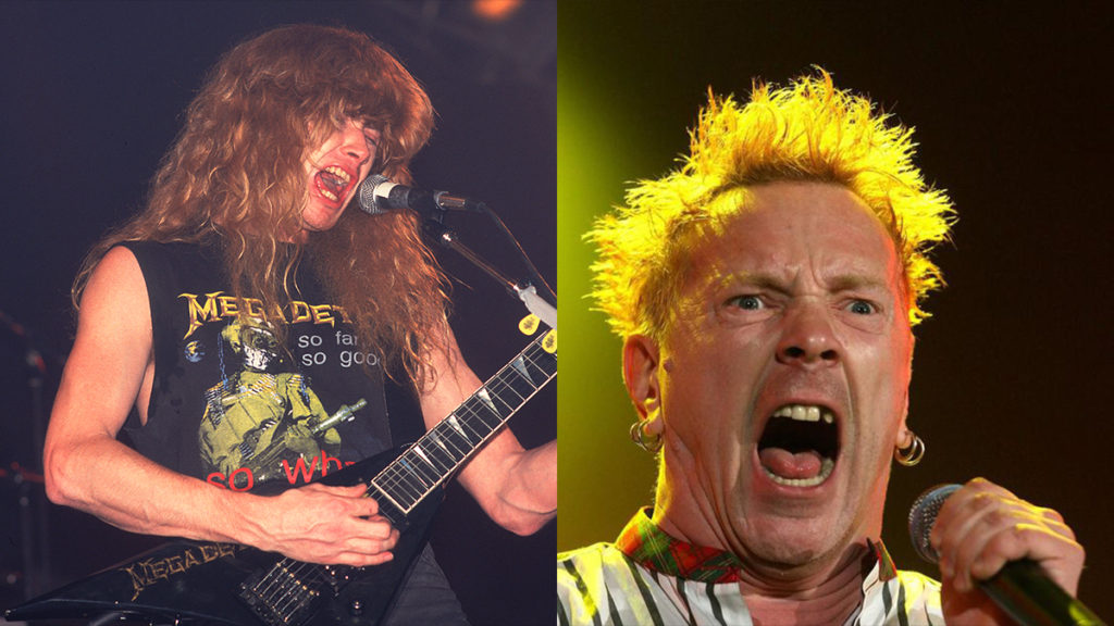 Dave Mustaine Johnny Rotten
