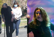 Ozzy Osbourne Walking With Cane