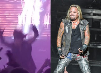 Vince Neil Falls Off Stage